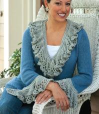 1865 Jacket Knitting and Crochet Pattern