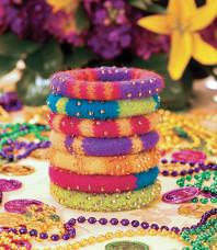Mardi Gras Party Bangles Pattern