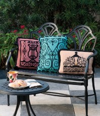 Wrought Iron Gate Pillows Pattern