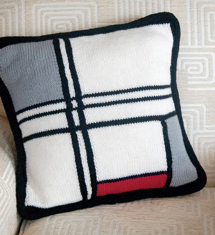 Mondrian Pillow Cover Pattern